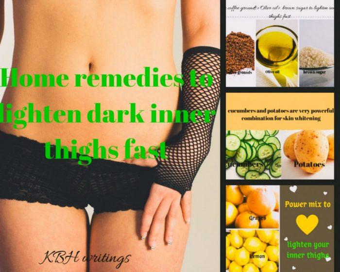 how to lighten dark inner thigh