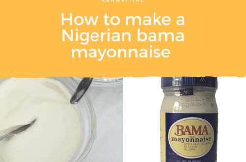 How To Make a Nigerian eggless Bama Mayonnaise.